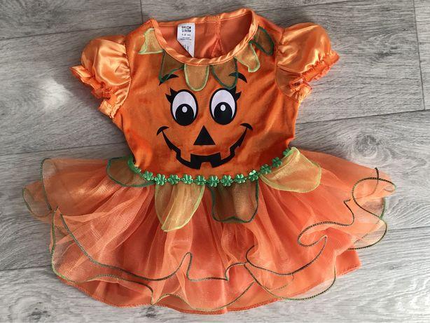 Платье тыквы на Helloween Хэллоуин 80- 86 см