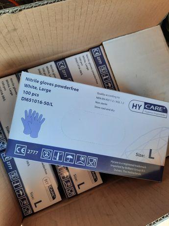 Rękawiczki nitrylowe holenderskie 100 sztuk