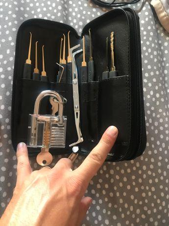 Kit abrir fechaduras com cadeado treino