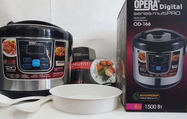 Мультиварка Opera Digital OD-166 12программы 6л 1500 Вт