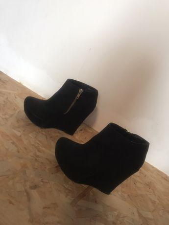 Женские осение батинки  замш