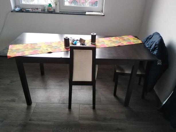 Sprzedam stół kolor wenge plus 4 krzesła