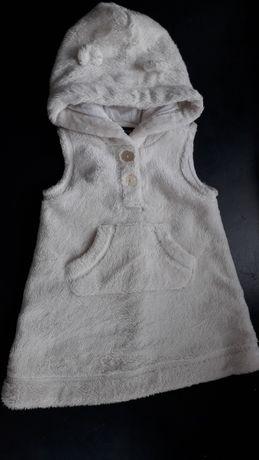 Ciepła sukieneczka sukienka na zimę ogrodniczka 6-12
