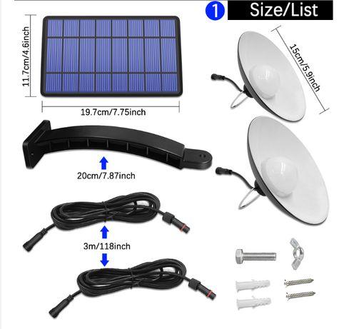 Светильник на солнечной батарее 16Led + 16Led 520 Lm лампы для помещ.