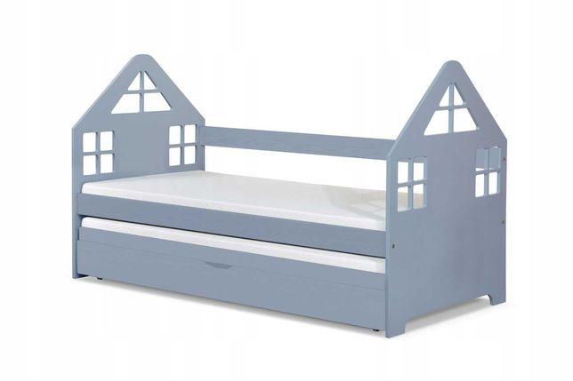Łóżko Domek dla dwójki dzieci! Parterowe! materace za darmo