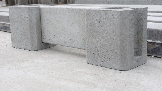 Murki ogrodzeniowe, podmurówka betonowa.