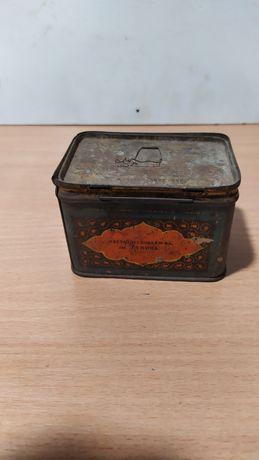 Старинная коробочка с чаем СССР