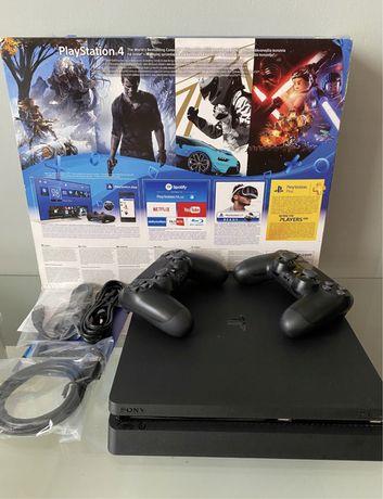 PS4 SLIM +2PADY 1TB PLAYSTATION 4 + Fifa 21 + 116 Gier