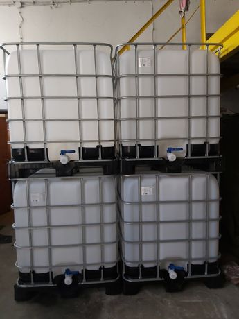 Beczki mauser 1000l do ogrodu lub na paliwo czyste wymyte