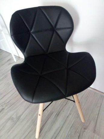 Krzesła nowoczesne pikowane 2 sztuki