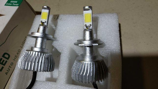 Авто Диодные лампы Led h7 40 Вт 12 вольт 2200 Lm пара.
