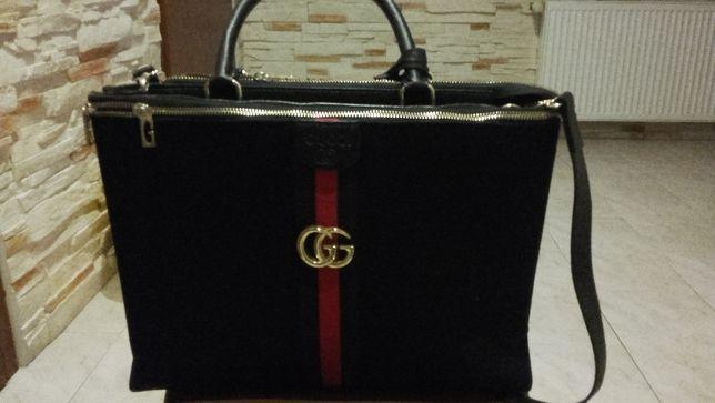 sprzedam czarną torebkę Gucci format A4