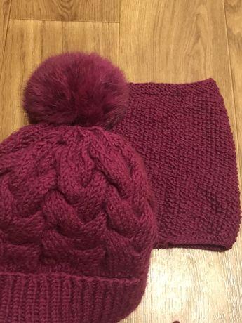 Зимний коплект шапка снуд