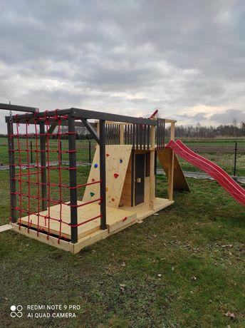 Drewniany plac zabaw, domek dla dzieci model BLAZE