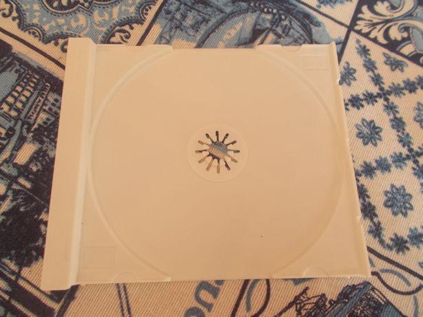Suporte interior para caixa de cd jewel case cor branca
