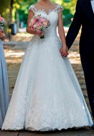 Suknia ślubna 36 z salonu Nikola B + halka + pokrowiec