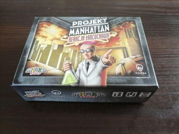 gra karciana Projekt Manhattan reakcja łańcuchowa +drewniane znaczniki