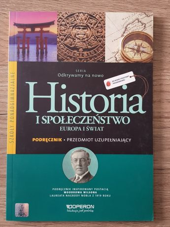 Podręcznik Historia i społeczeństwo Europa i Świat  ponadgimnazjne