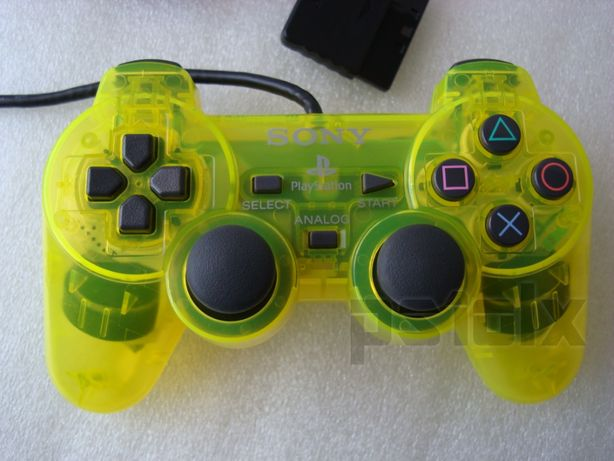 comando dualshock 2 lemon yellow ps2