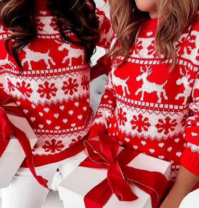 Sweter Świąteczny Wzór Norweski w RENIFERY Częstochowa - image 1