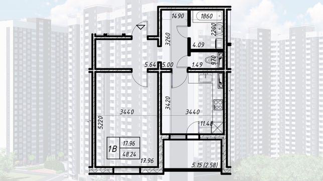 1к Квартира в Навигаторе-2, Оболонский р-н, Коноплянская/ С.Кульженков
