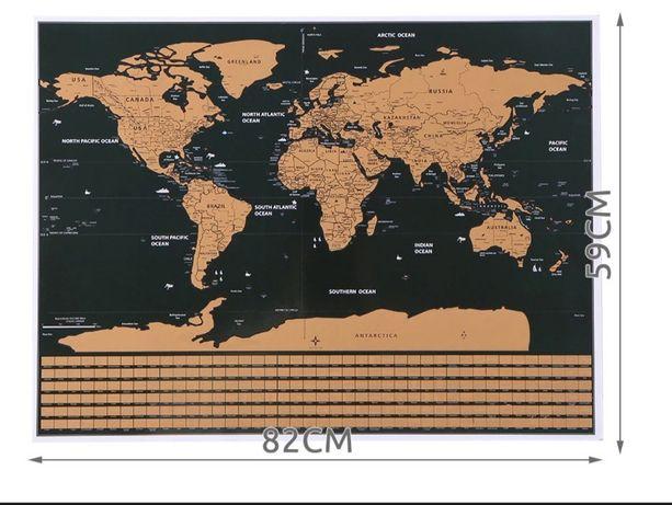 Mapa zdrapka 82/60
