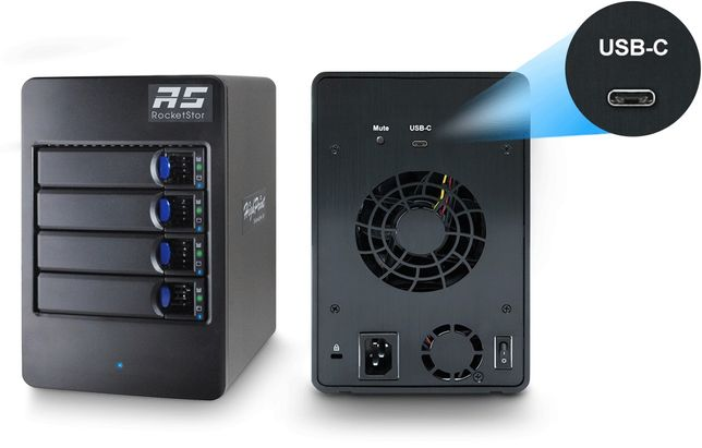 Внешний корпус Raid 0, 1, 5, 10. 4 HDD USB TYPE-C 3.1 gen2 10Gb/s