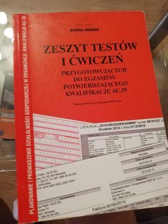 Zeszyt testów i ćwiczeń przygotowujący do egzaminu AU. 35