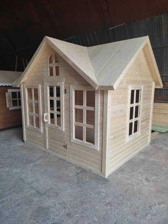 Деревянные детские домики для детской площадки, дачи, частного дома.
