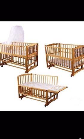 Детская кроватка geoby happy dino трансформер