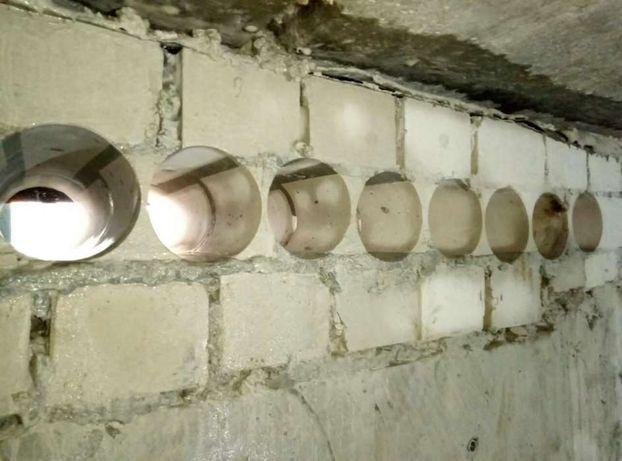 Сверление отверстий под рекуператор