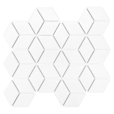 Mini Rombic White 48 Mozaika gresowa DUNIN