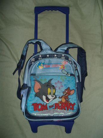 Портфель, ранец, рюкзак для школьников, на колёсиках, выдвижная ручка.