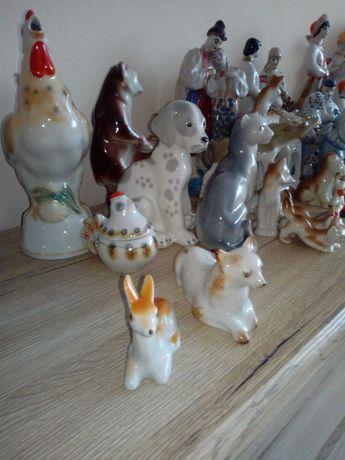 Stare sygnowane Figurki Rosyjskie Zwierzęta.