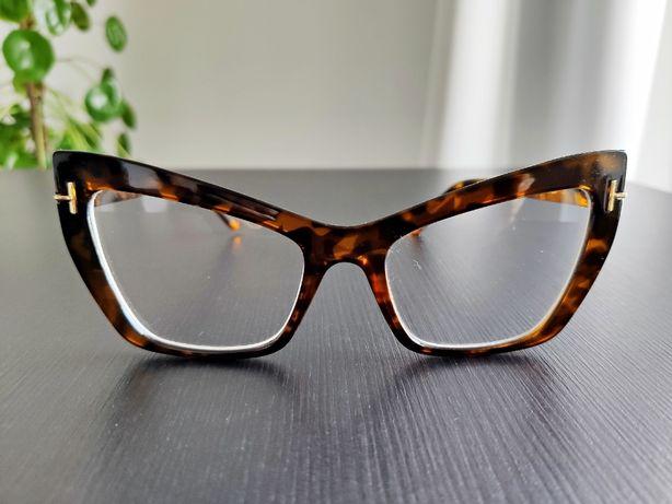 okulary zerówki grube oprawki kocie modne retro oversize sezon 2020