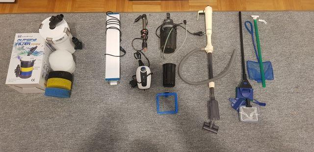 Sprzedam akcesoria akwariowe: Grzałka, Filtr, Napowietrzacz, Lampa LED