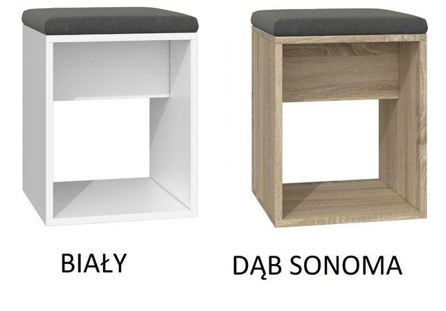 LUNA / TABORET STOŁEK z siedziskiem / 3 kolory / 51x35x35