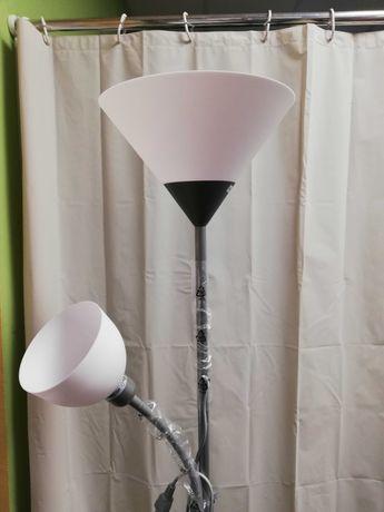 Lampa stojąca szara i biała NOWA