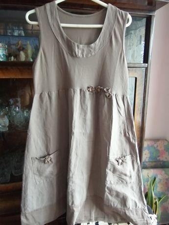 Sukienka nowa firmy Unisono popielaty kolor
