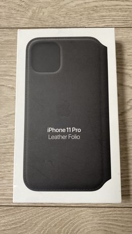 Skóra etui Apple iPhone 11 Pro czarne leather case nowe oryginał