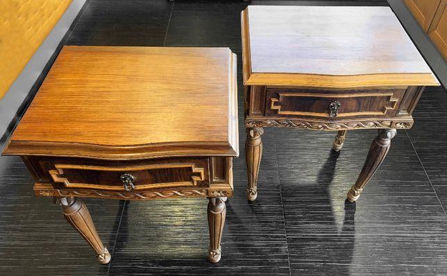 Conjunto de 2 Mesinhas artesanais mogno D. Joao V