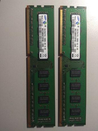 Память Samsung ddr3 4 гигабайта, pc3-10600 2 одинаковые планки