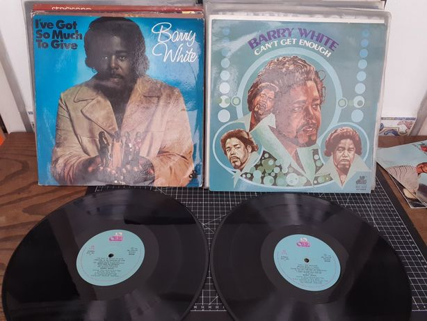 LPs Barry White originais 1974. Can't  geral enough I've got so much t
