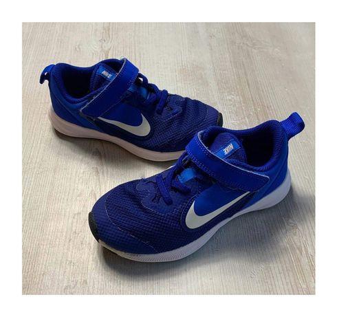 Nike buty sportowe 30 Downshifter niebieskie białe zadbane chabrowe st