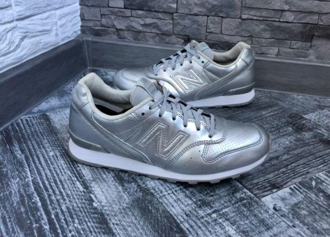 Кроссовки серебро New Balance 39 р.кожа