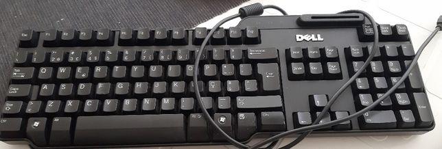 Teclado da Dell, para computador, com leitor de chips eletrônicos