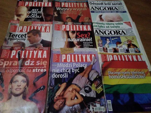 Oddam za darmo czasopisma Polityka,Angora