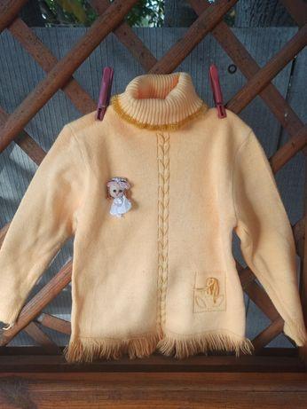 Детский свитер (розовый/жёлтый)