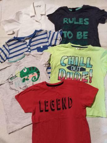 Bluzeczki typu t-shirt z krótkim rękawem roz. 122-128