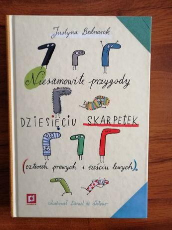Książka,, Niesamowite przygody dziesięciu skarpetek''  Justyna Bednare